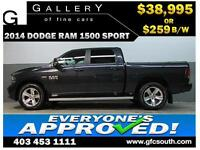 2014 DODGE RAM SPORT CREW *EVERYONE APPROVED* $0 DOWN $259/BW!