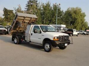 2000 FORD F-450 SUPER DUTY REGULAR CAB DUMP TRUCK 7.3L DIESEL