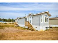 Mobile homes on leased land north of Fort McMurray