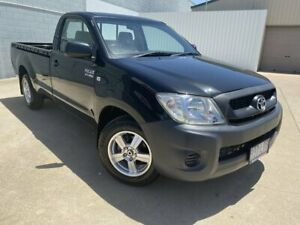 2008 Toyota Hilux TGN16R MY09 Workmate 4x2 Black 5 Speed Manual Cab Chassis Mundingburra Townsville City Preview