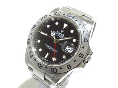 Auth ROLEX Explorer 2 16570 Silver, Black K800084 Men