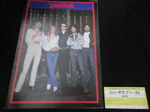 Judas Priest 1979 Japan Tour Book w Ticket Stub Rob Halfford NWOBHM Program