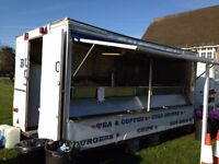 Burger Trailer/Snack Wagon/Catering van & Pitch for Sale ***NO VAT***