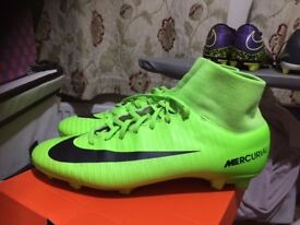 Nike Sock Football boots - Size - 7 (UK) MERCURIAL Bright Green