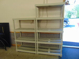 3 SETS OF SHELVES PVC AND METAL