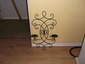 Candle Holder for Wall Solid Steel Excellent Shape