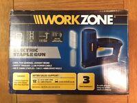 WorkZone Electric Staple Gun, 400 x 10mm staples
