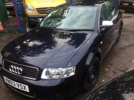 BREAKING 2003 AUDI A4 S LINE 2.0l fsi, 5 speed manual, sport, non turbo, for parts