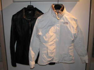 2 Spring jackets: North Face & Isaac Mizrahi (leather) Sz Small