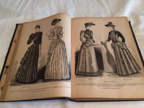1890, The Deliniator Bound Book, Vintage and Historical, Fashion & Illustrations