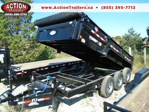 PJ TRIPLE AXLE DUMP TRAILER 21,000LB 7 X 16' BED YOUR BEST PRICE London Ontario image 1