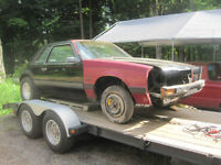 1986 FORD MUSTANG COUPE - ROLLING SHELL, TRADE UP FOR 5.0L