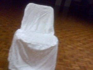 High-Quality White Satin Chair Covers W/Laces- Excellent Shape!! Kitchener / Waterloo Kitchener Area image 7