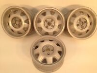 """ATS CUP 4X100, 15"""" staggered set two 6J and two 7J. Deep dish alloy wheels, Made in Germany"""