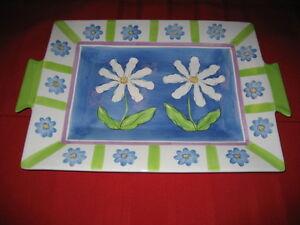 Large Ceramic Floral Platter
