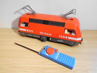 Playmobil  Eisenbahn rote  RC Güterlok mit Licht und Batteriefach (3124)