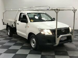 2015 Toyota Hilux TGN16R MY14 Workmate White 5 Speed Manual Cab Chassis Edgewater Joondalup Area Preview