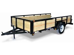 Remorque avec côtés en bois 7x12 / Wooden trailer