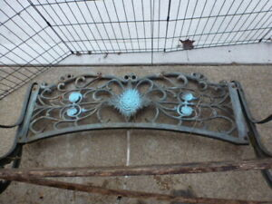 WROUGHT IRON BENCH PARTS