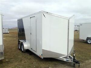 7ft X 16ft Flat Top Enclosed Trailer - LTF716TA2
