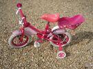 Girls Pink Sweetie Bike.