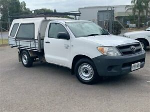 2008 Toyota Hilux TGN16R MY08 Workmate 4x2 White 5 Speed Manual Cab Chassis Mawson Lakes Salisbury Area Preview