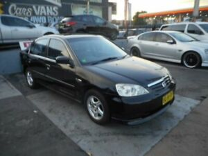 2002 Honda Civic 7th Gen GLi Sedan 4dr Auto 4sp 1.7i (leather) Black Automatic Sedan Croydon Burwood Area Preview