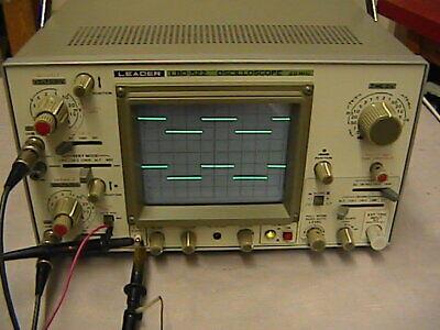 Leader Lbo- 522 Dual Trace Oscilloscope 20 Mhz.