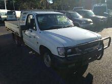 2004 Toyota Hilux RZN147R MY02 Workmate White 5 SPEED Manual Cab Chassis Greenslopes Brisbane South West Preview
