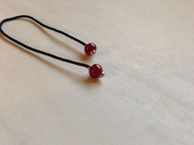 Cartier 4mm to 5mm ruby beads from the Dragon collection