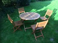 Set of Garden Table and 4 chairs