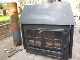 Hunter multifuel stove with boiler