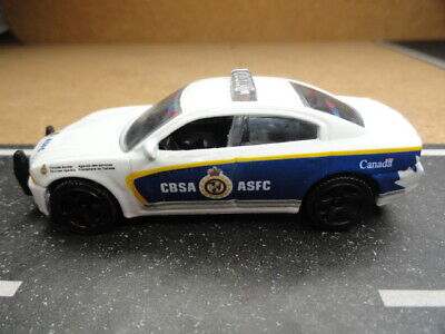 MATCHBOX POLICE CANADA BORDER SERVICE AGENCY & ASFC DODGE CHARGER CUSTOM UNIT