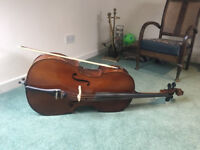 Cello for sale 4/4 full size with bow and soft case (Hans Joseph Hauer)