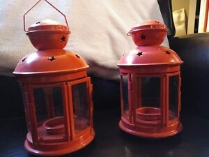Set of 2 Ikea Red Lanterns - Great for Weddings!