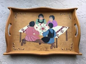 St Jacobs Painted Wooden Tray - $10