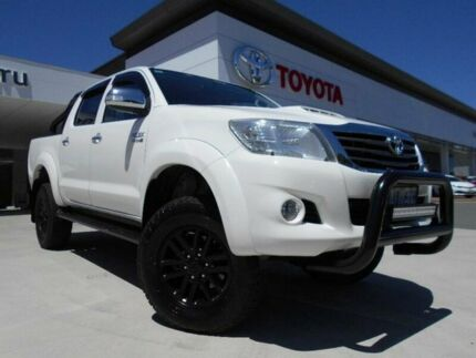 2013 Toyota Hilux KUN26R MY12 SR5 (4x4) White 4 Speed Automatic