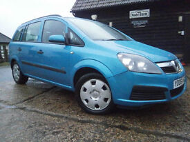 06 VAUXHALL ZAFIRA 2.2 LIFE AUTOMATIC 7 SEATER MPV 64K FSH JUST SERVICED FAB.