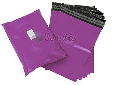 25x PURPLE Mailing Postal Postage Mail Bags 10