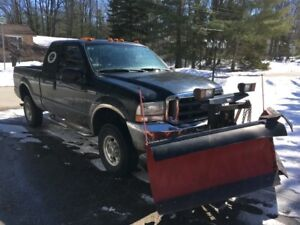 Ford F-250 4x4 Lariat with Western V-9.5' Snow plow-PRICE DOWN