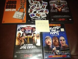 WWE and TNA Wrestling DVDS