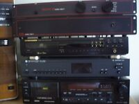 Musical Fidelity pre & power amps, Marantz CD player, Cambridge tuner