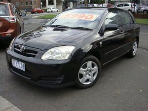 2005 Toyota Corolla ZZE122R Ascent Seca Black 5 Speed Manual Hatchback Essendon North Moonee Valley Preview