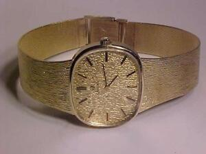 #3120-STUNNING! OMEGA 14K GOLD(including strap-)56.5grams-1960`s -KEEPS GREAT TIME. -WIL ACCEPT EBANK TRANSFER ONLY-