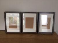 Set of 3 brown IKEA frames, vgc