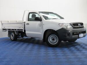 2010 Toyota Hilux TGN16R 09 Upgrade Workmate White 5 Speed Manual Cab Chassis East Rockingham Rockingham Area Preview