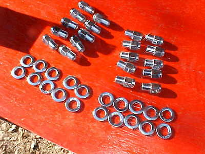 Mag Wheel Nuts - 20 cragar uni-lug mag wheel 3/4 shank lug nuts& centered washers,1/2 x20 CCM22