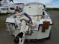 Sea fishing boat RYDS 435FC weekender cabin cruiser day boat 30hp outboard engine motor
