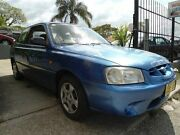 2000 Hyundai Accent LC GL Blue 4 Speed Automatic Hatchback South Wentworthville Parramatta Area Preview