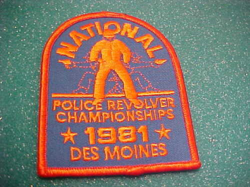 DES MOINES IOWA 1981 NATIONAL REVOLVER POLICE PATCH SHOULDER SIZE UNUSED